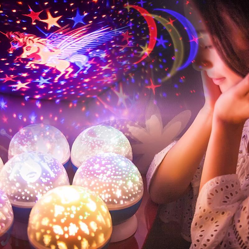 旋转少女心星空灯海洋睡眠投影灯仪儿童满天星生日情人节七夕礼物