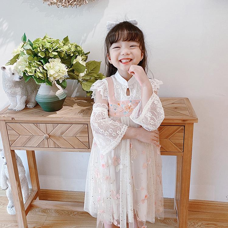 儿童汉服女童装韩版连衣裙夏季新款超仙公主裙高端品牌中国风