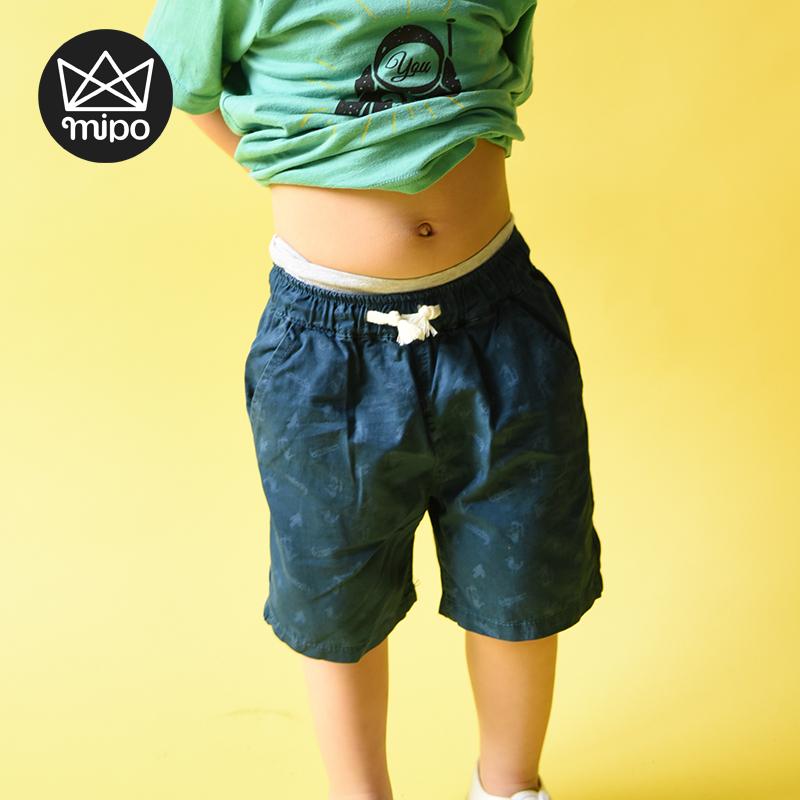 mipo純棉 兒童沙灘褲