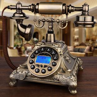 仿古电话机欧式 田园家用无线插卡电话机座机 复古老式 旋转欧美式