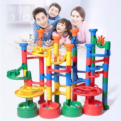 玩乐汇水到渠成益智积木3岁以上6-8-10岁水管道滑道智力开发亲子