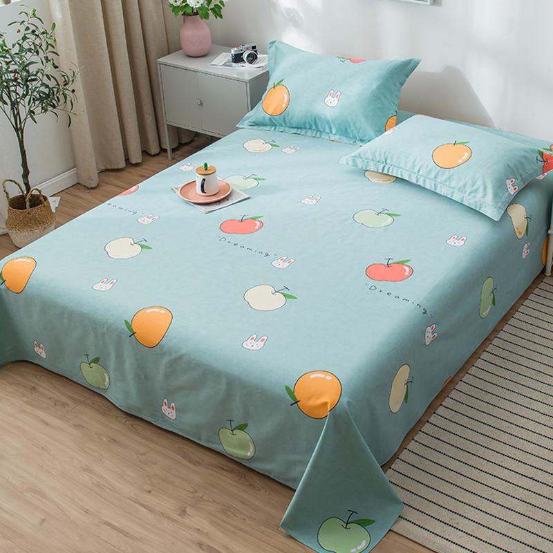 全棉粗布被单1.8m双人床1.5纯棉夏季薄款床单单件宿舍单人床学生