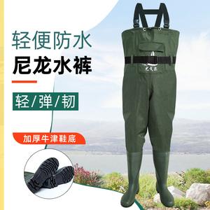 超轻防水 耐磨尼龙 加厚下水裤半身连体雨裤捕钓鱼衣服水库套装图片