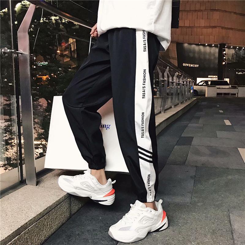 Pants mens casual pants students Capris trend overalls in Harlem Leggings loose large Sweatpants