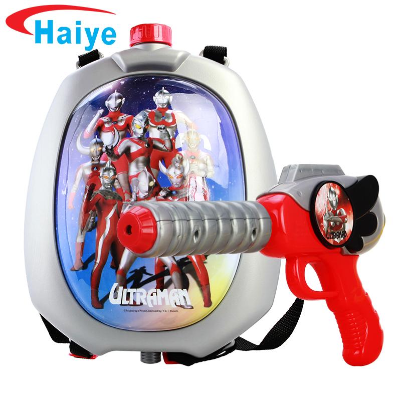 海業兒童水槍玩具背包背帶式戲水沙灘玩具漂流抽拉式奧特曼射程遠