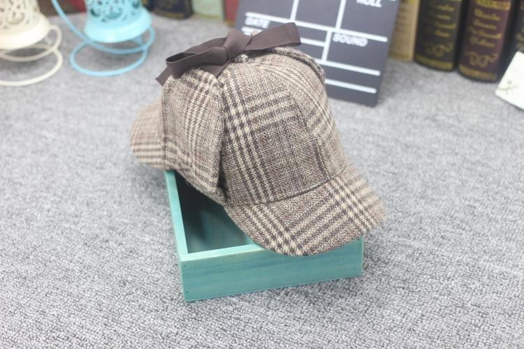 魅性神探夏洛克周边福尔摩斯猎鹿帽 侦探卷福夏洛克帽子双沿檐帽