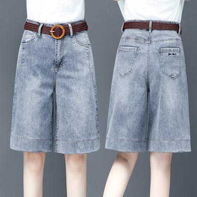 五分裤女2020新款外穿韩版短裤宽松薄款显瘦夏秋六分阔腿牛仔中裤