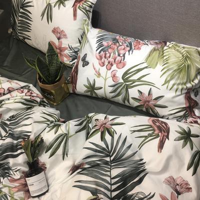 美式60支长绒棉贡缎四件套纯棉100%全棉床单被套床笠1.8m床上用品