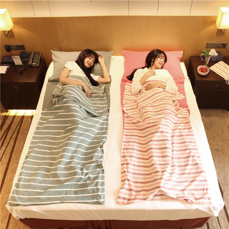 無印良品水洗棉旅行睡袋便攜式酒店賓館出差火車床上隔臟純棉床單
