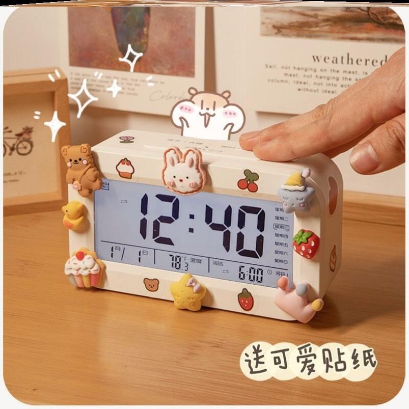 中國代購 中國批發-ibuy99 闹钟 网红DIY电子闹钟学生专用2021新款儿童桌面时钟起床强力叫醒神器