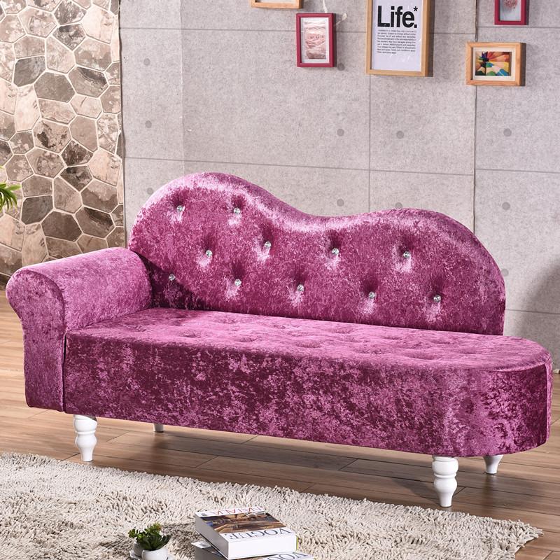欧式布艺贵妃椅 懒人沙发 卧室小沙发 美人榻 美容院小沙发 躺椅