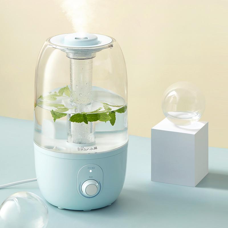 小熊加湿器家用大容量静音办公室卧室空调空气净化创意迷你香薰机图片