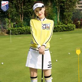 秋冬ZG6高尔夫球服装女秋冬golf衣服女装短款时尚外套白色短裙裤图片