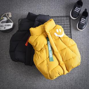 儿童背心保暖 宝宝加绒马甲加厚婴儿秋冬装 韩版 男童洋气小童装 冬季