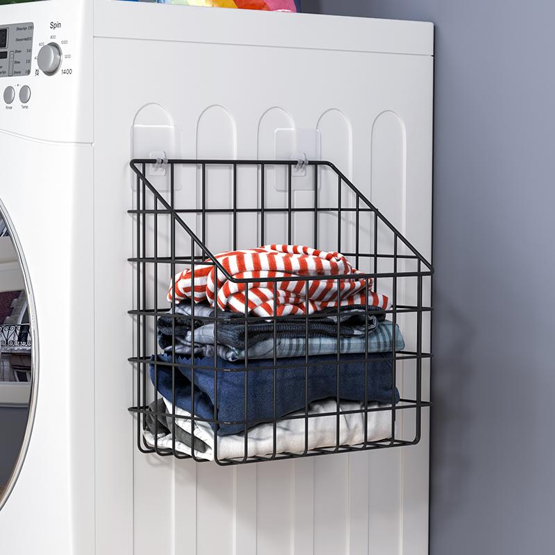 放衣物置物架卫生间壁挂厕所置物筐