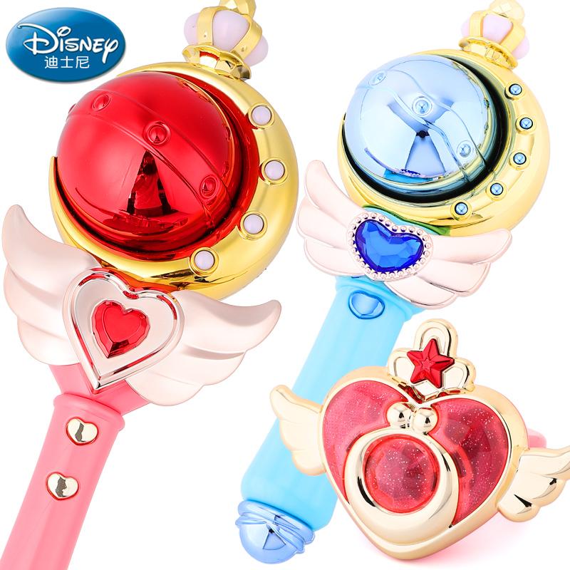 迪士尼仙女魔法棒儿童冰雪奇缘公主权杖夜光手环小孩广场发光玩具