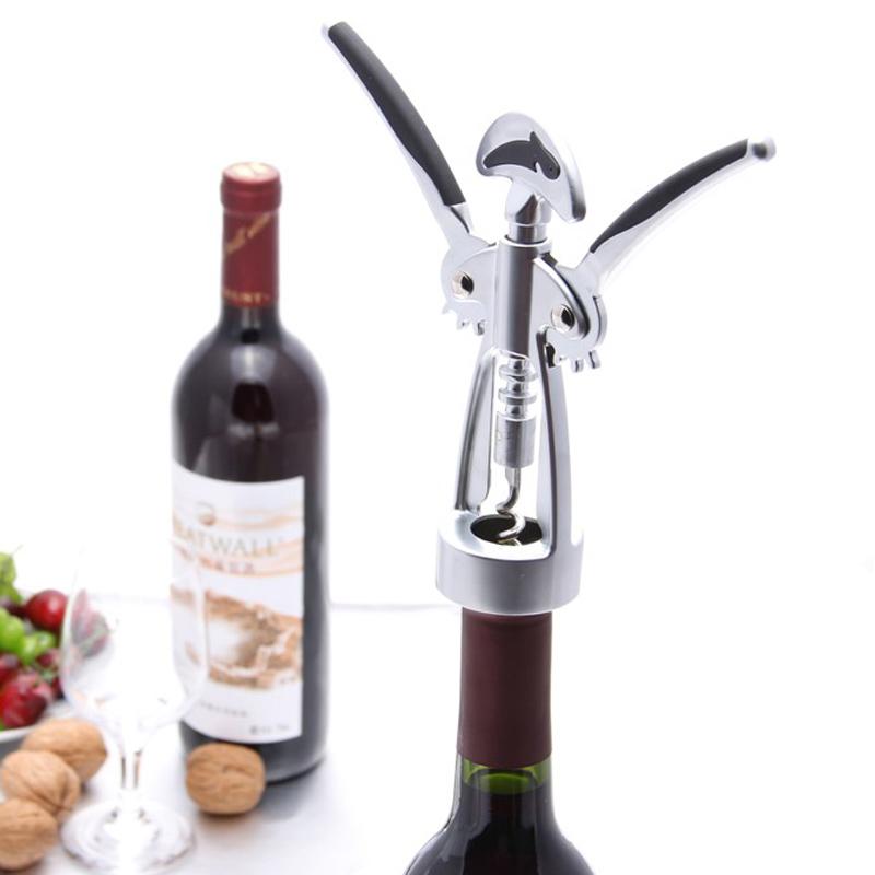 海豚戀人不鏽鋼鋅合金紅酒開瓶器葡萄酒起子啟瓶器超強省力家用