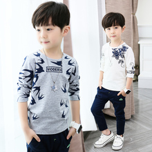 Boys'Long Sleeve T-shirts in Spring and Autumn Korean Edition