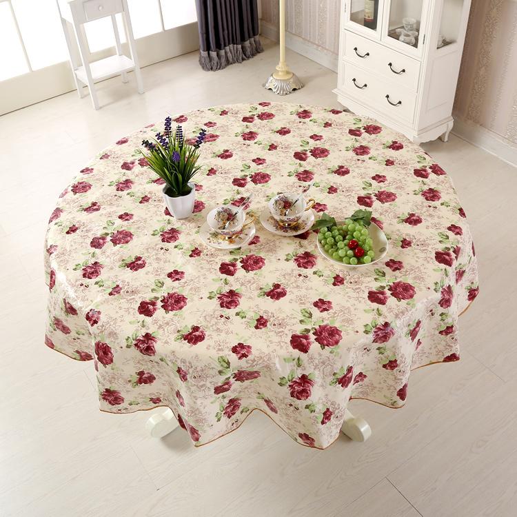 (用20元券)免洗圆桌圆桌布防水防油饭店餐馆防PVC正方形方长方形餐桌茶几布
