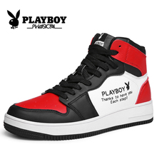 Playboy AJ Men's Shoes Autumn Trendy Shoes Korean version Trendy High-Up Shoes Men's Sports Basketball Net Red Gaobang Board Shoes