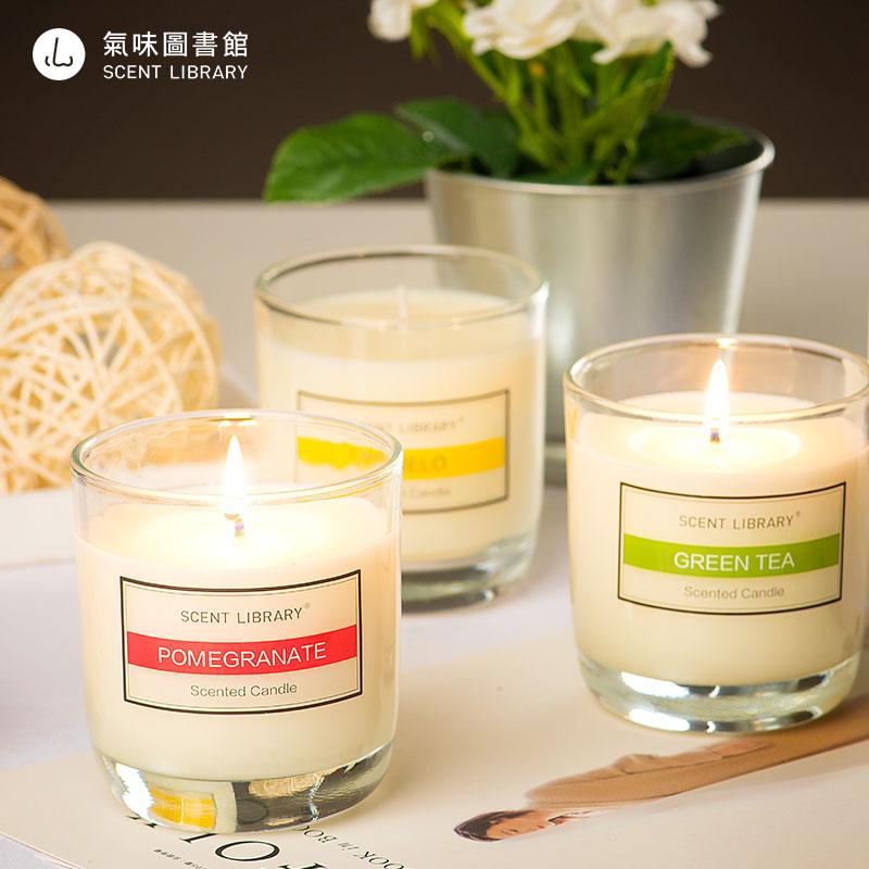 气味图书馆经典凉白开大西洋香薰蜡烛卧室室内家居香氛家用香氛
