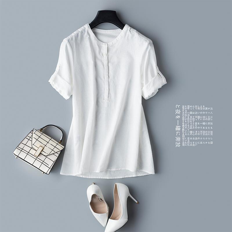 断码清仓不退不换  立体暗纹理 高阶品质感 白色半开门襟衬衫女