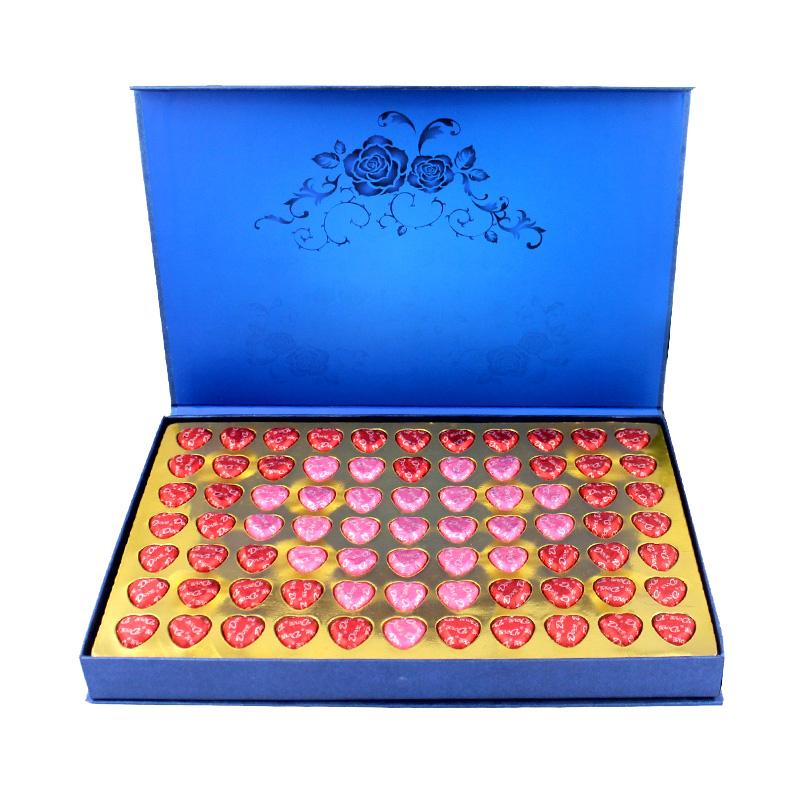 德芙巧克力心语77粒礼盒装生日送女神圣诞情人节礼物零食批发包邮