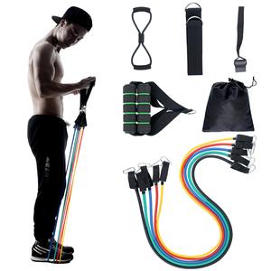 弹力绳练胸肌健身器材家用力量运动皮筋训练腿部男女拉力绳套装带