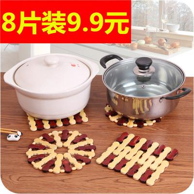 10 pieces of bamboo vegetable mats, potholders, table mats, coasters, bowl mats, anti-scald pot mats, plates, bamboo mats, home dining mats