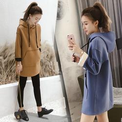 孕妇装秋款套装时尚2020新款韩版宽松卫衣秋冬季孕妇外出两件套潮