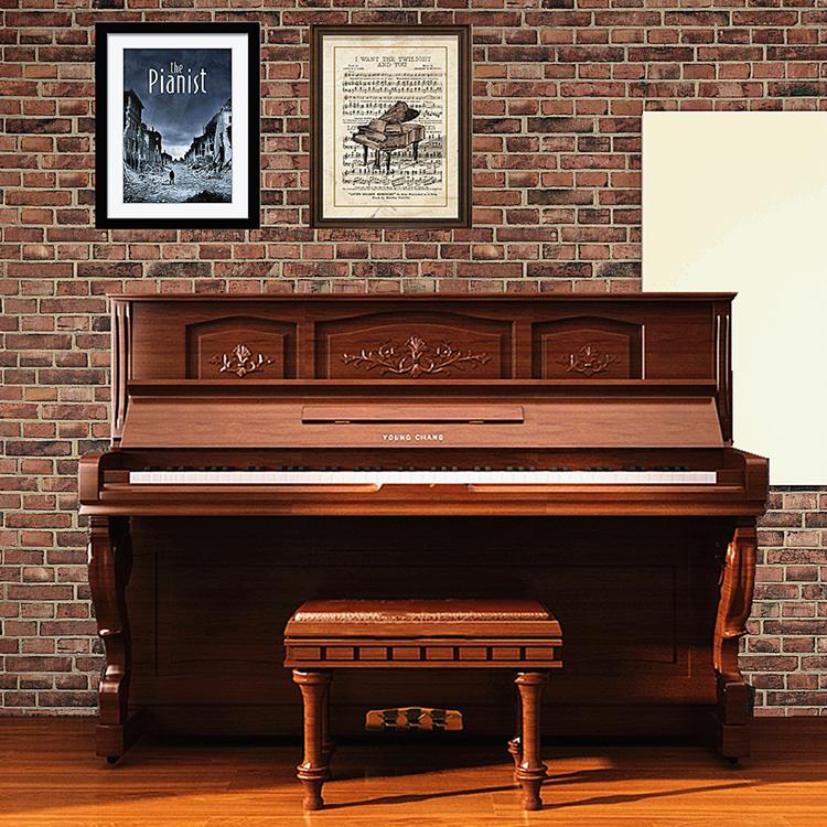 韩国进口二手钢琴三益英昌U121专业考级成人初学实木立式练习专业