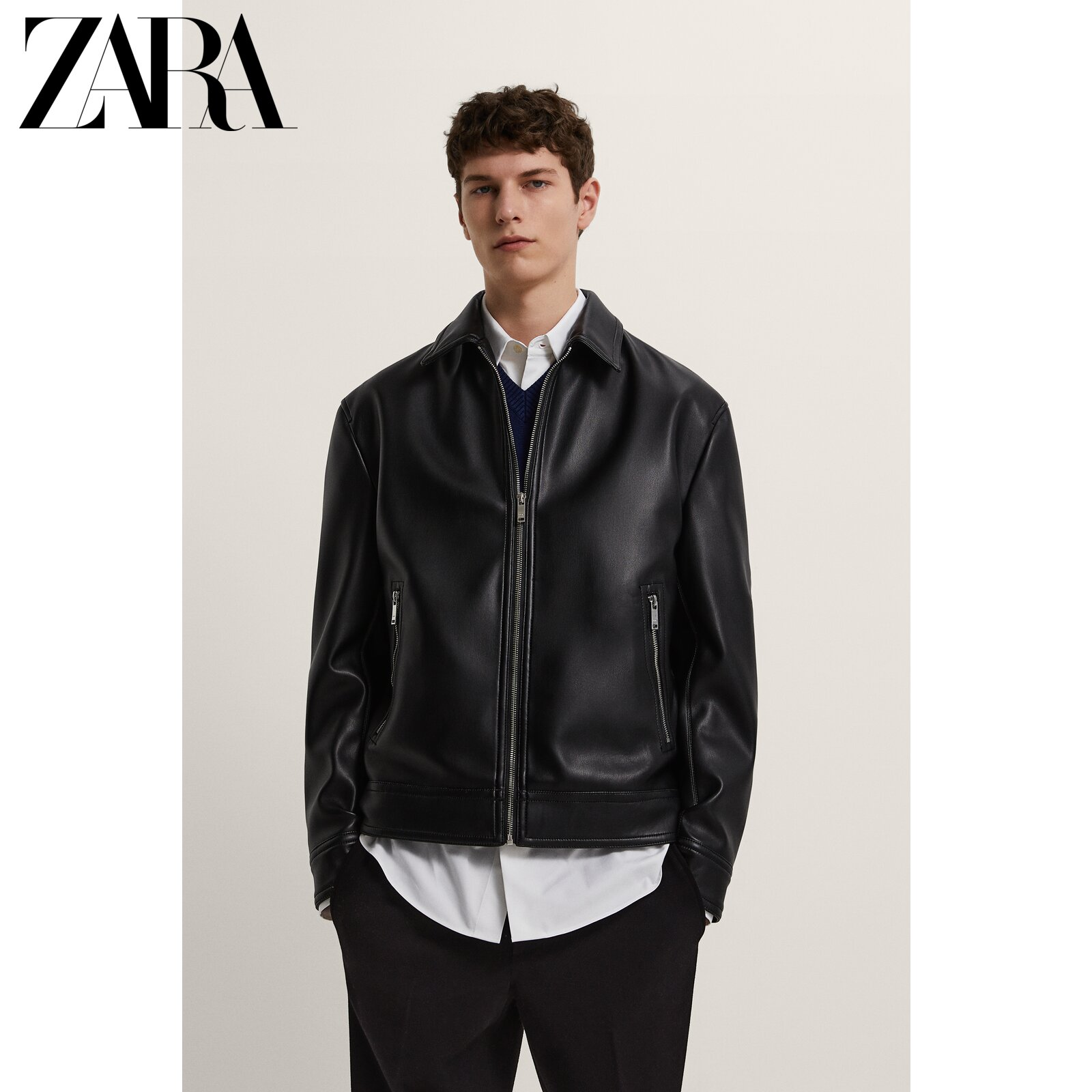 ZARA Summer New Men's Imitation Leather Jacket Jacket 08281630800