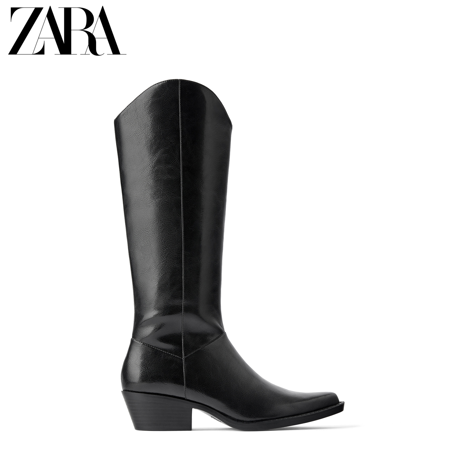 Zara new TRF women's shoes black jeans high heels fashion boots 17052001040
