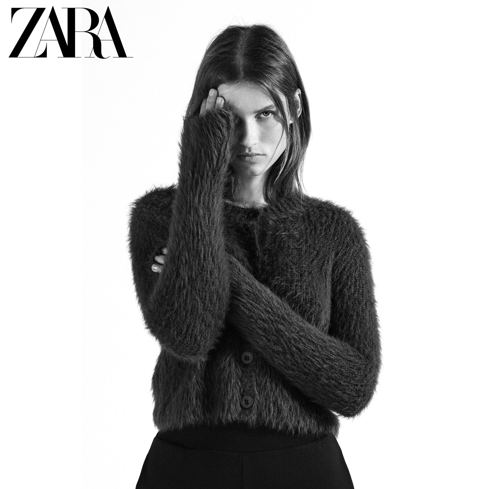 ZARA new faux fur effect coat 07901631700