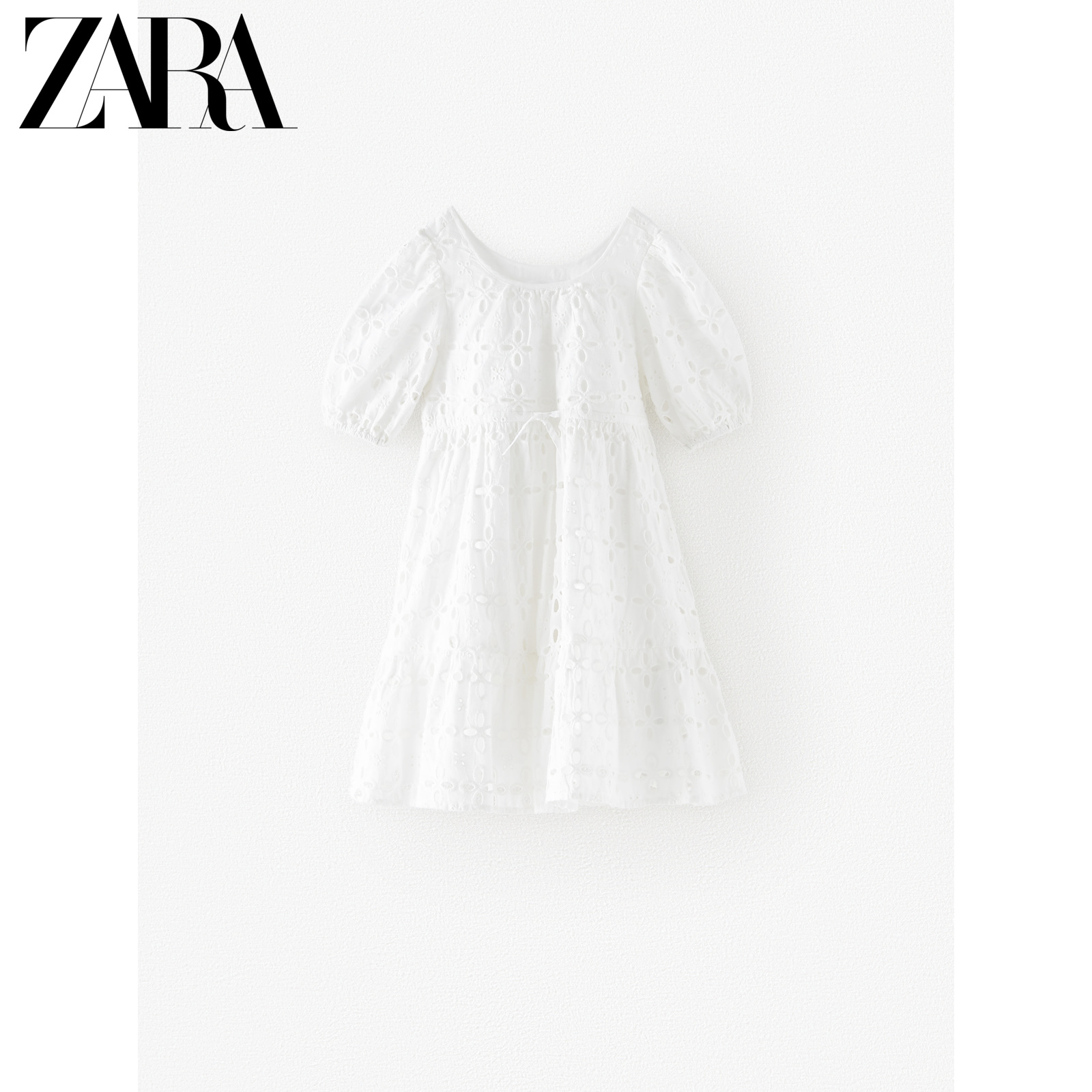 Zara new children's wear new spring and summer Swiss embroidery dress 05107601250