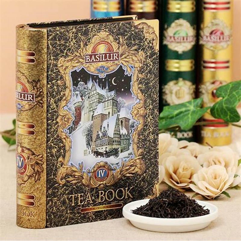 Net red English witch magic basilur treasure Ceylon Golden Book original tea new year goods foreign gifts