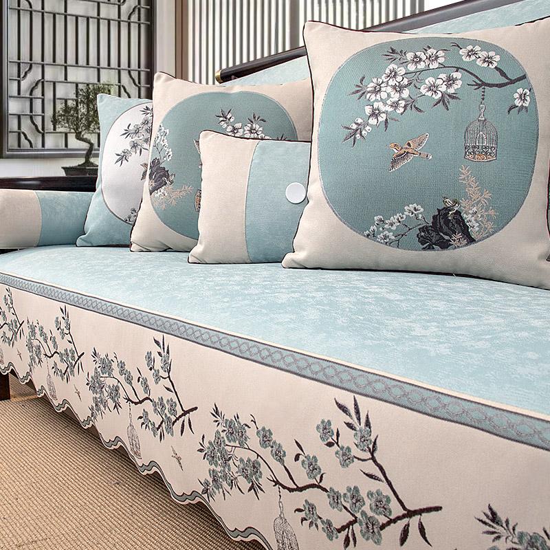 新中式沙发垫四季实木防滑现代轻奢怎么样