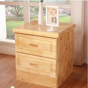 中式全实木床头柜卧室柏木储物柜床边置物两抽屉家用简约现代家具