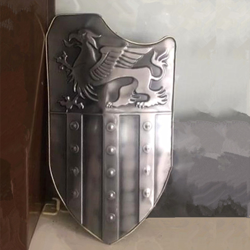 Stainless iron European Roman antique shield cosply props metal decoration crafts creative gift
