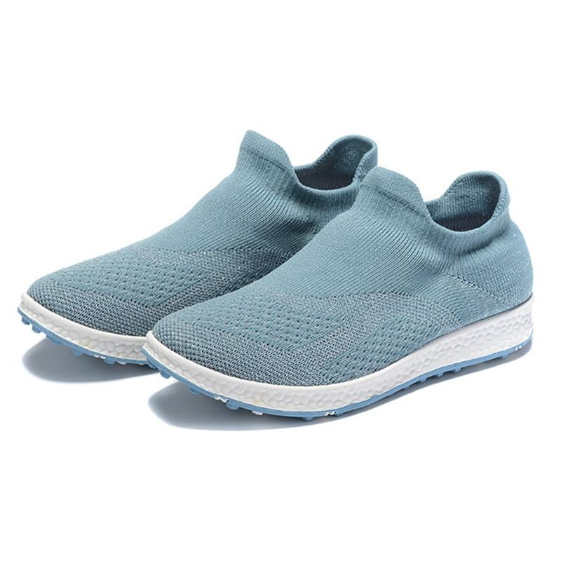 Summer Golf Shoes Womens fly woven mesh surface flat sole sports shoes breathable non slip lightweight womens golf shoes
