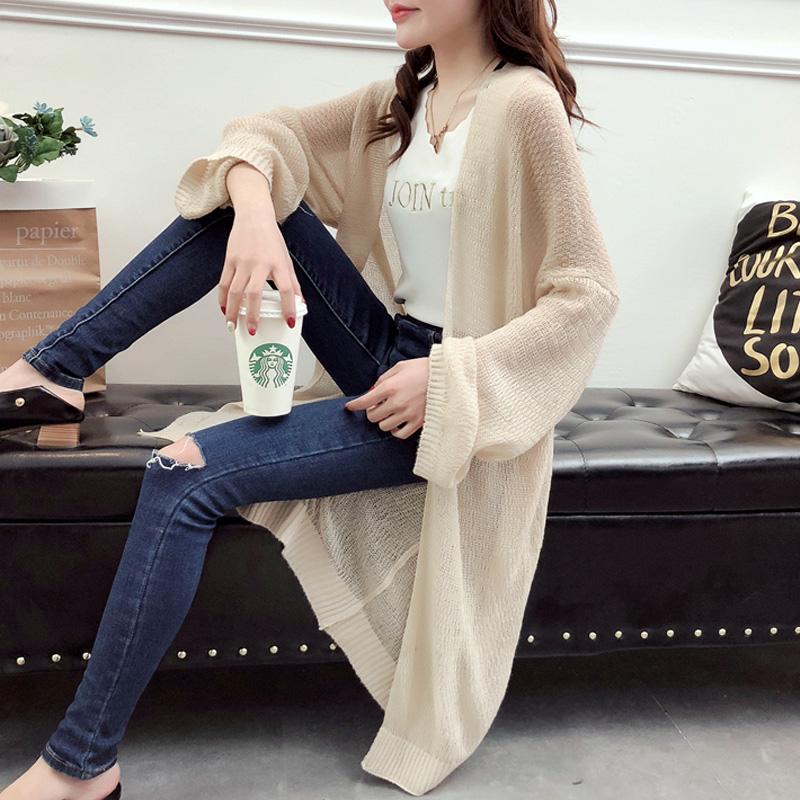 Беременная женщина весна наряд беременная женщина свитер корейский моды длина тонкий солнцезащитный одежды вязание куртка кардиган пальто волна