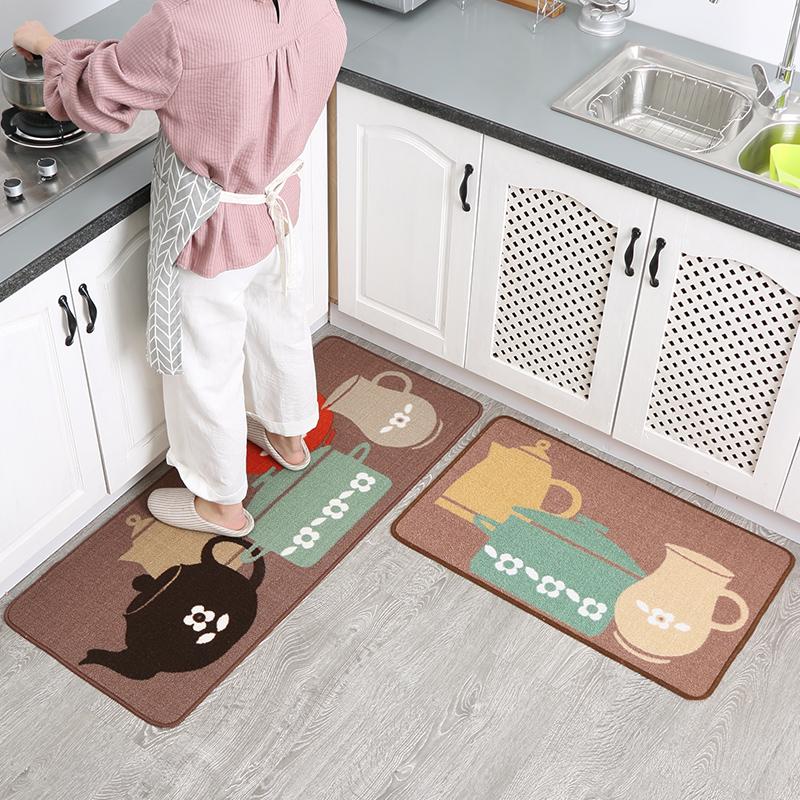 七七家 家用厨房地垫长条地垫门口卫生间防滑吸水脚垫门垫进门