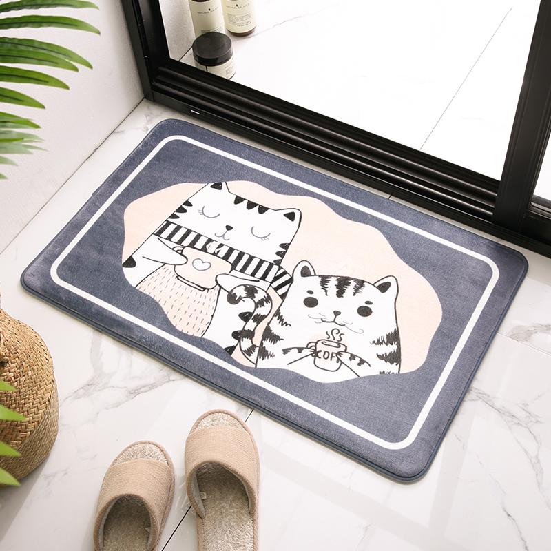 卫生间地垫地毯门垫进门地毯垫门口卧室吸水脚垫子家用浴室防滑垫(用26.5元券)