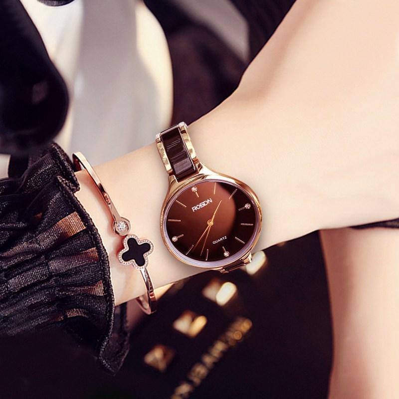 New lauston watch womens watch fashion trend ceramic waterproof Bracelet authentic 2020 set