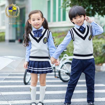 幼儿园园服春秋装儿童英伦学院风小学生校服套装秋冬季班服三件套