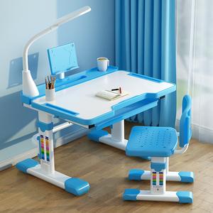 儿童学习桌小学生书桌家用写字桌椅套装组合小孩写作业桌子可升降