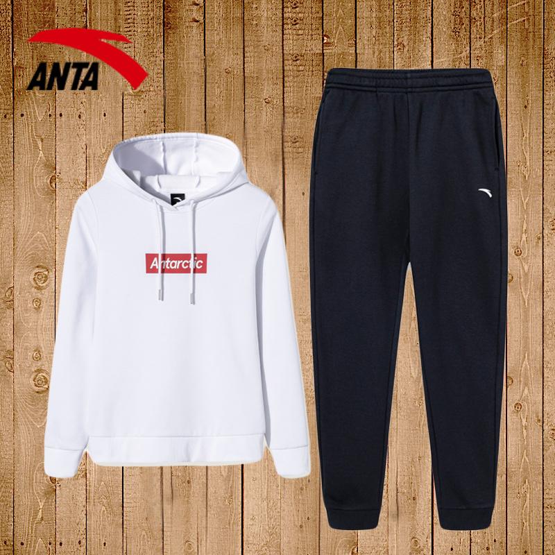 安踏运动套装女2020新款夏季休闲健身跑步服装女士卫衣长裤两件套