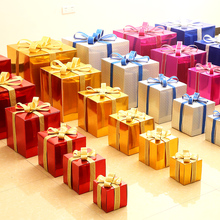 Kino Christmas Decoration Gift Box Paper Bright Gift Box Projects Shop Window Scene Arrangement