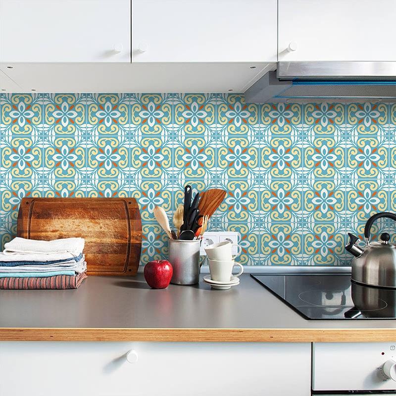 自粘个性装饰壁纸墙贴厨房防油贴纸卫生间地面瓷砖防水防滑地板贴