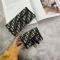 新款女士钱包长款女钱包时尚简约多功能拉链手包零钱手提钱夹2021
